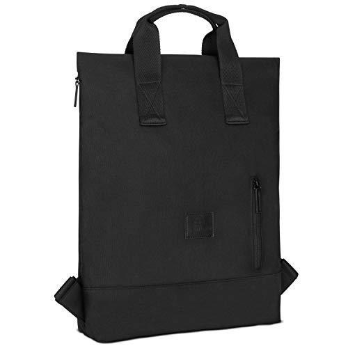Rucksack Damen & Herren Schwarz - Johnny Urban IVY Backpack aus recycelten PET-Flaschen für Uni Büro Schule Freizeit & Business, Tasche Laptop 15 Zoll, Rucksäcke Wasserabweisend