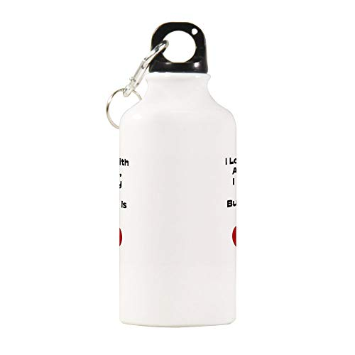 Yilooom Sports Kettle Aluminium Funny Quote Love You With All My Butt Sport Bottle Pattern Water Bottle Sports Water Bottles 20oz