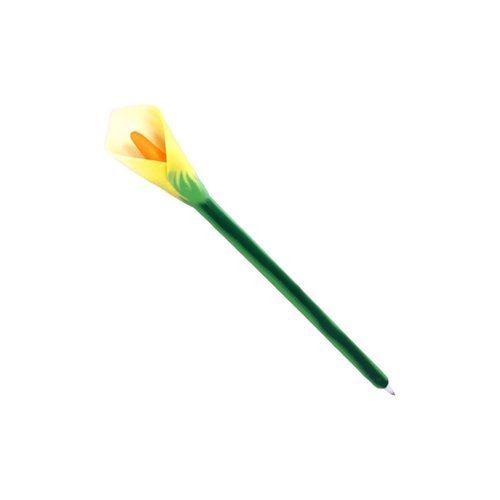 Xonex Calla Lily Flower Ballpoint Single Pen (10737) in Our Choice of Purple, White or Yellow