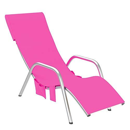 Petyoung Toalla de Silla de Playa Microfibra Toalla de Playa Piscina de Secado Rápido Cubierta de Silla de Jardín con Bolsillos para Tomar El Sol en Vacaciones en La Playa - 82. 6X29. 5 Pulgadas