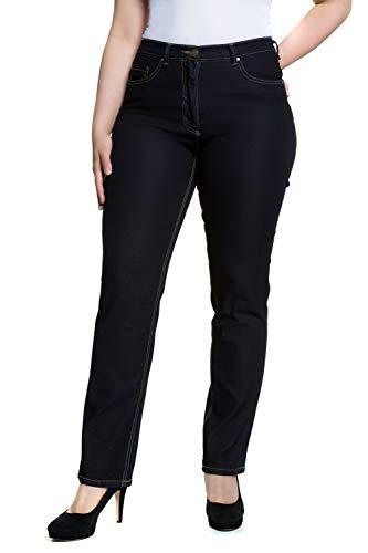 Ulla Popken Jeans Regular Fit Stretch, Dunkelblau, 50W Femme