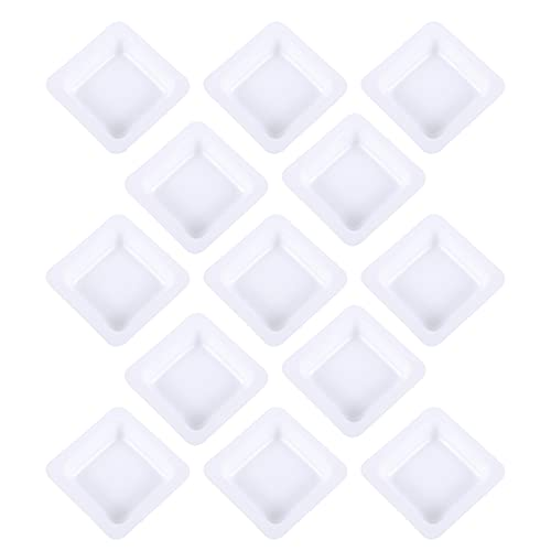 Baluue 50pcs Weigh Boats Small Square Weighing Boat Labs Weighing Dish Anti- Static Weighing Plate Plastic Square Lab Dish Scale Tray 7ml