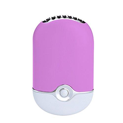 ThreeH Ventilador USB Silencioso Mini Aire Acondicionado Viaje Recargable Ventilador de Aire Humidificador Ventilador de Refrigeración F015,Purple
