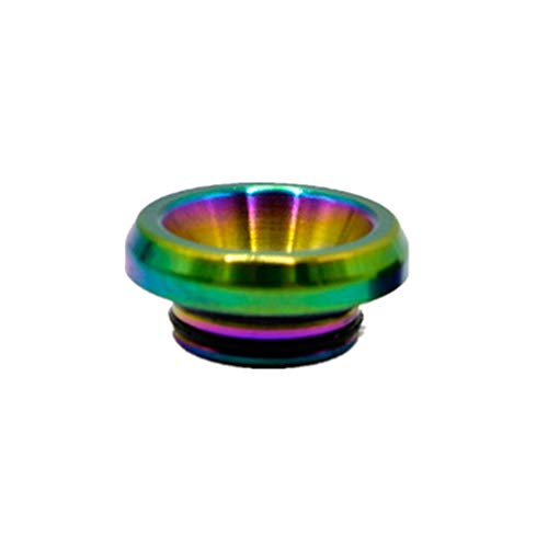 Sunday 7 stainless steel flat 810 Drip Test Tip 1pack large diameter accessories nozzle tips individual package Gift 2pcs 60ml PET Gorilla empty bottles(Rainbow color)