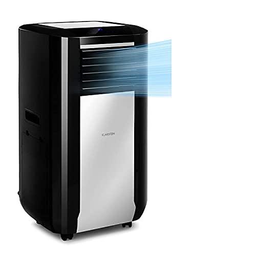 KLARSTEIN Max Breeze Smart - Climatizzatore Portatile, 3in1: Climatizzatore,Deumidificatore,Ventilatore, Classe A, AppControl, 4 Modalità, 3 Velocità, 500 m³ h, 57-95 m², 15000 BTU 4,4 kW, Nero