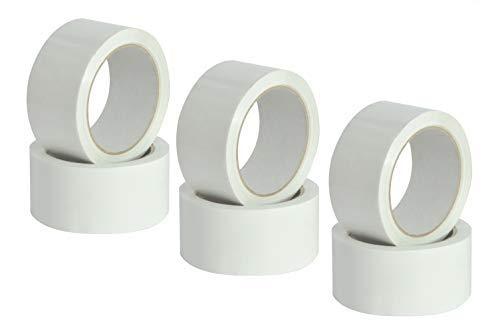 Scocht - Cinta adhesiva blanca, ultrarresistente, ideal para embalar paquetes, 50 mm x 66 m, 6 rollos