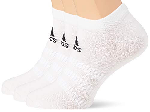 adidas Performance No Show - Calcetines cortos unisex (18 pares, talla 37-39), color blanco