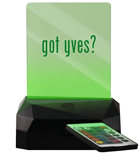 got yves? - LED USB Rechargeable Edge Lit Sign