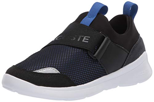 Lacoste Baby Kid's LT Dash Sneaker, Black/Blue, 4 US Unisex Infant
