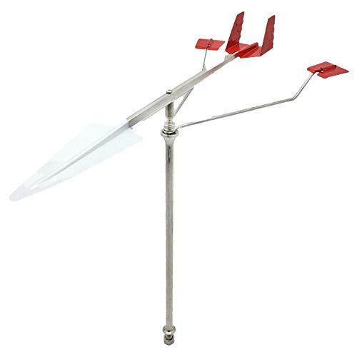 lembrd Windanzeiger aus Edelstahl 304 für Bootssegeln - Windwetterfahne Rostfreier Stahl Wetterfahne für Boot Segeln Marine Masten