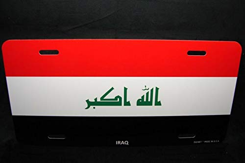 Irak Vlag Metaal Aluminium License Plaat Tag Voor Auto's Irakese Vlag Auto Auto Novelty Accessoires License Plaat Art