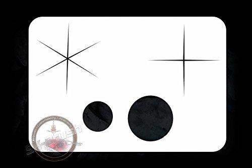 Sparkles Airbrush Schablone Stencil