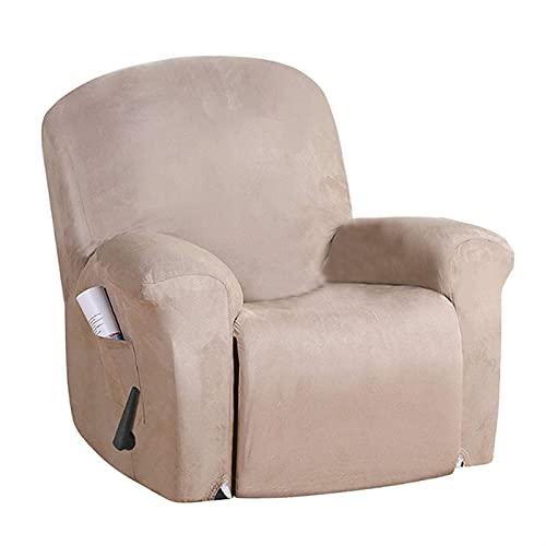 HUAGE Cubiertas de sofá de Silla, Silla de sillón reclinable Sillón de Gamuza Sillón Sofá Sofá Asegocatina Tapa de sofá Todo Incluido 1/2 plazas Reclinación para sillones