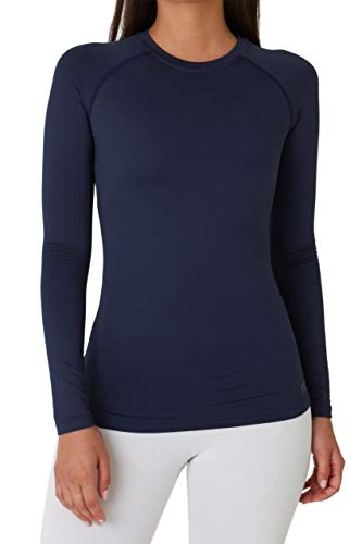 TCA SuperThermal Baselayer Damen Laufshirt/Funktionsshirt - Langarm - Navy Eclipse (Blau), M