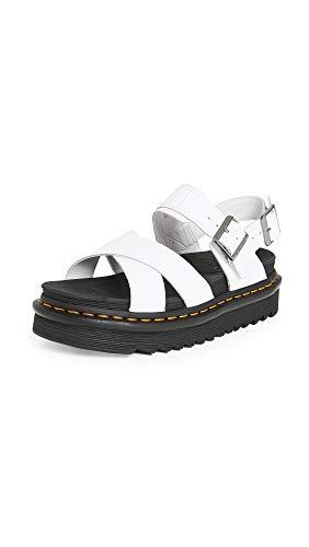 Dr. Martens Women's Ankle Strap Sandal, White Hydro, 8