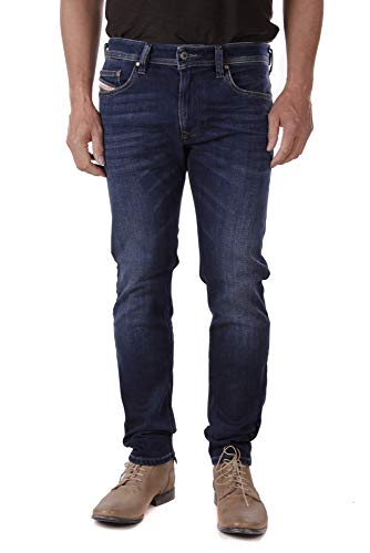 Diesel Thavar-XP R6L80 Herren Jeans Hose Slim Skinny (36W / 32L, Blau)