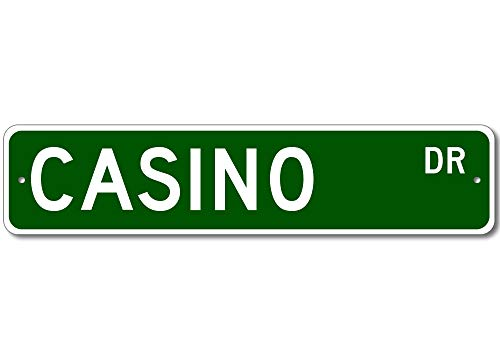 Yilooom Casino Street Sign - Personalized Last Name Signs