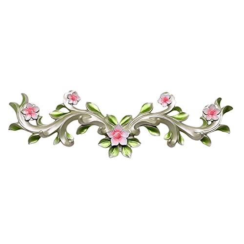 OMYLFQ Gancho de la Capa de la Pared de la Cubierta de la Americana Americana con 8 Ganchos Decoración de la Pared de la Flor de la Resina para la Sala de Estar Dormitorio Corredor. (Color : B)
