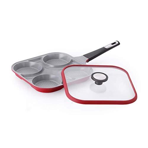 IUYJVR Sartén para Tortilla de Aluminio con Cuatro Agujeros, sartén Antiadherente, Estufa de Gas, Uso Multiusos para la Cocina del hogar, 11 Pulgadas