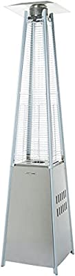 AmazonBasics Outdoor Pyramid Patio Heater, Stainless Steel