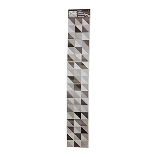 Décoration adhésive pour CARRELAGE 260544 Scandinave, Polyvinyle, Noir/Blanc, 15 x 15 x 0,1 cm