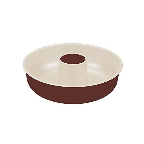 Guardini Chocoforme, Moule à savarin 25cm, acier avec revêtement anti-adhérent, couleur crème-chocolat