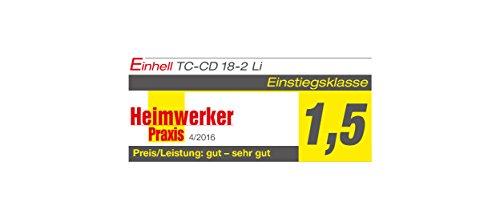 Einhell Akku Bohrschrauber TC-CD 18-2 Li 18V, 1,3Ah, 2-Gang, 38Nm - 14
