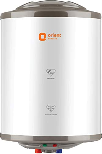 Orient Electric 15 L Storage Water Geyser  WH1501M| Zesto| Glassline, White & Brown