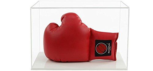 Widdowsons Display Cases Vitrine aus Acryl für EIN Boxhandschuh, horizontal, mit Einer flach weiß Boden, Innenmaße 35cm Breite x 25cm Tiefe x 22,5cm Höhe