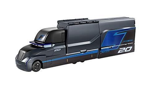 Cars Camión de lanzamiento Gale Beaufort, lanza hasta 5 coches de juguete, para niños +3 años (Mattel GPD93)