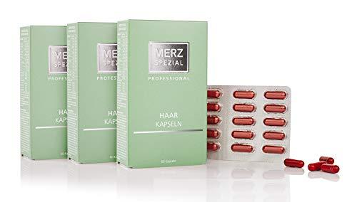 Merz Spezial Professional Haarkapseln - mit Vitamin B Komplex für mehr Haarwachstum und stärkere Haarwurzeln - Nahrungsergänzungsmittel (3 x 35,5 g / 180 Kapseln)
