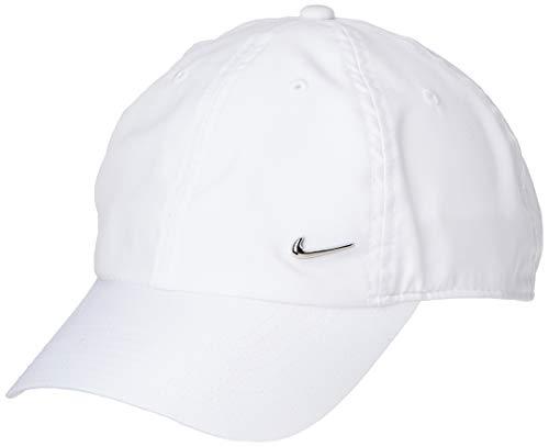 Nike U Nk H86 Cap Metal Swoosh Hat  Unisex Adulto  White/(Metallic Silver)  MISC