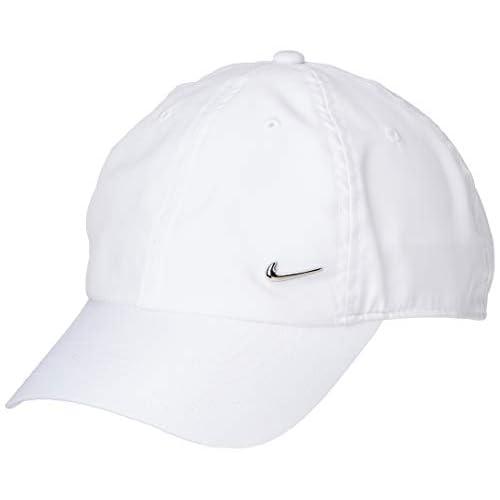Nike H86 cap Metal Swoosh, Cappellino da Baseball Unisex Adulto, Bianco (White/Metallic Silver 100), One Size (Taglia produttore:MISC)