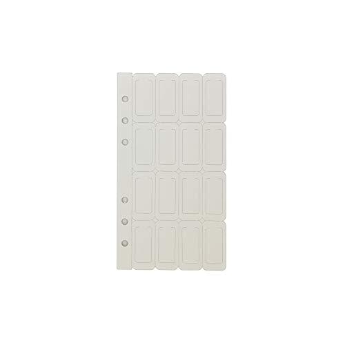 A6 6穴カバー ラウンドリングビューバインダー ファイルフォルダー ルーズリーフシートプロテクター/ノートブック リフィル/DIYスクラップブック/バインダーカバープロテクター, A6 カラー仕切カード, 1 パッケージ