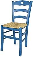 Tommychairs - Sedia modello Cuore per cucina bar e sala da pranzo, robusta struttura in legno di faggio verniciata in...