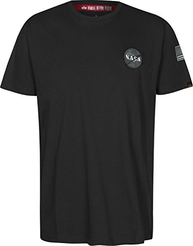 ALPHA INDUSTRIES Herren 17650703 T-Shirt, Schwarz, M EU