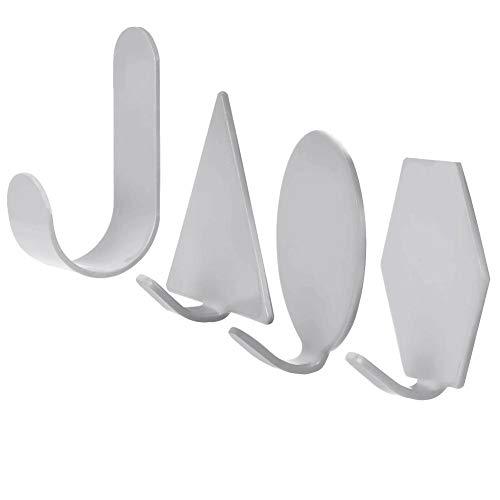 TOPINCN Ganchos De Pared 4 Unidades Estilo Nórdico Parte Trasera Adhesiva Hierro Forjado Forma Geométrica Resistente Colgador De Pared Para Llaves Abrigos Sombreros Toallas De Baño Cocina