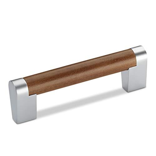 Möbelgriff WE53 BA 96 mm Ø 15 mm Buche braun gebeizt Kommodengriff Schubladengriff Bügelgriff von JUNKER Design
