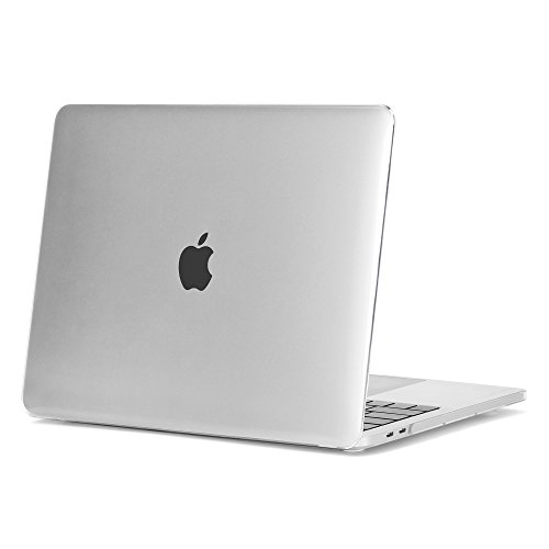 """MacBook Pro 15 Case 2016 & 2017, GMYLE Smooth Crystal Glossy Hard Shell Cover for Apple MacBook Pro 15"""" inch A1707 with Retina Display 2016&2017 Release fits Touch Bar & Touch ID - Clear"""
