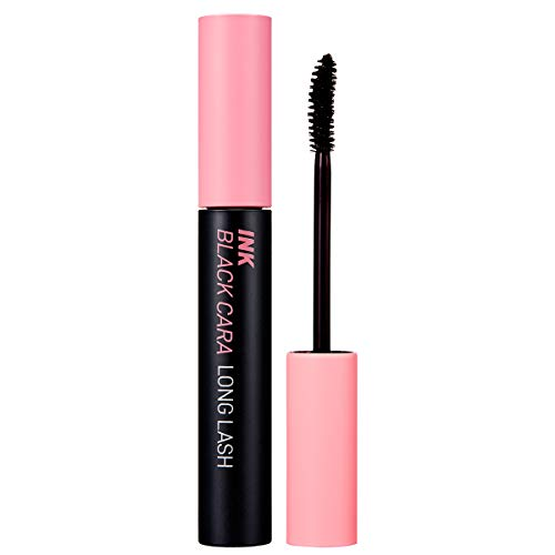 Peripera Ink Black Mascara | Lengthening, Thick, Waterproof, Smudge Proof, Long Lasting, Not Animal Tested | Long Lash Curling (#01), 0.24 fl oz