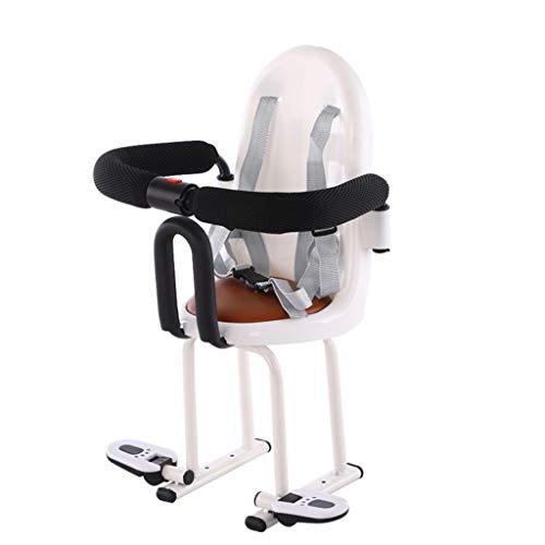 Bdclr Elektro-Moped vorne Kindersitz Elektroroller Motorrad Baby-Sicherheitssitz Multifunktionssitz,Weiß