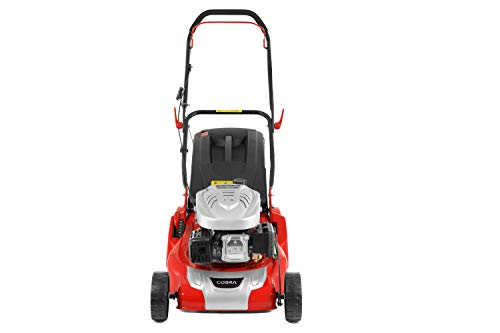 Cobra RM46C 46cm (18in) Petrol Lawnmower with a Roller for a striped lawn, powered by a DG450 OHV engine