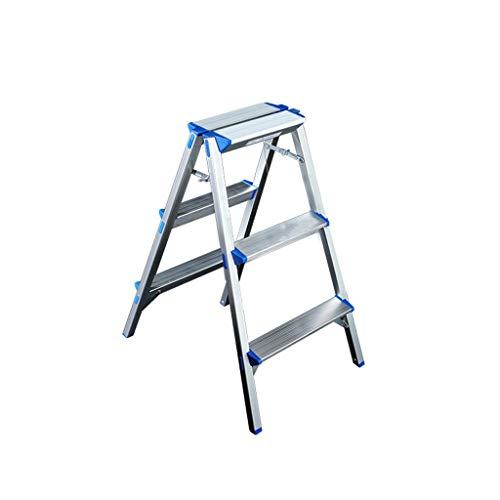 Escalera Impermeable Dos Escalera de Mano de heces, Tres/Cuatro escalones de Metal al Aire Libre Escalera, Escaleras de Tijera de Oficina/fábrica de Doble Lado Escalera Super Light a Prueba de Her
