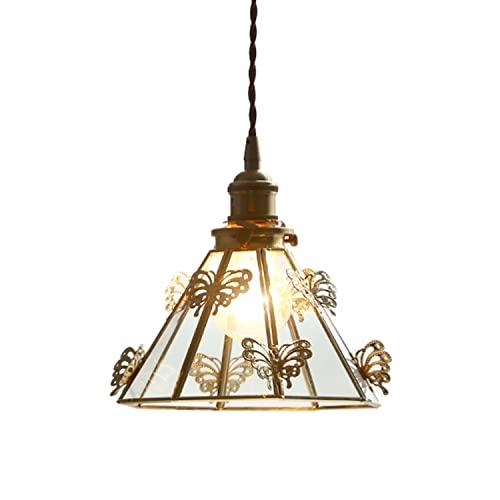 Lampadari a fatica, moderni lampadari a soffitto, lampadari in vetro in ottone, lampadari a forma di farfalla, Specifiche della lampadina E27 ( Bulbs escluse), for camere da letto Corridoi Ristoranti