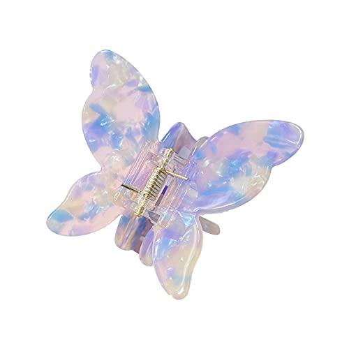 HUALONG Hair Clips Cute Butterfly Shape Hair Claws Clips Leopard Print Barrettes Hair Pins Hair Accessories (H, One Size)