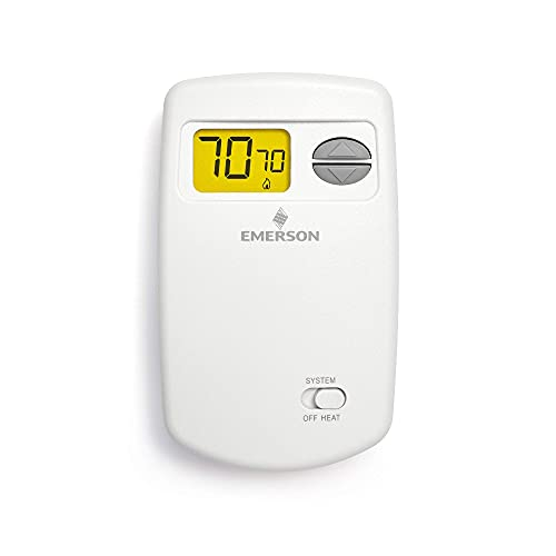 Emerson 1E78-140 Non-Programmable Heat Only Thermostat for Single-Stage Systems (Renewed)