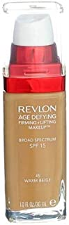 Revlon Age Defying Firming + Lifting Makeup, 45 Warm Beige,( Pack of 4)