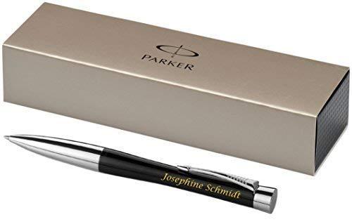 Exklusiver PARKER Kugelschreiber Modell URBAN inkl. Gravur Lasergravur graviert neu (schwarz)