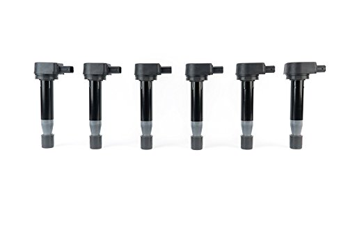 Ignition Coil Pack Set of 6 - Replaces 610-58547B, 30520-RCA-A02 - Compatible with Honda, Acura & Saturn Vehicles - TL 3.2 V6 1999-2008 - CL - RL 2005-2011 - Odyssey 1999-2010 - Accord V6