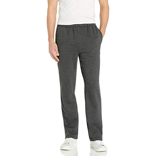 Amazon Essentials Men's Fleece Sweatpants, Charcoal Heather, Large